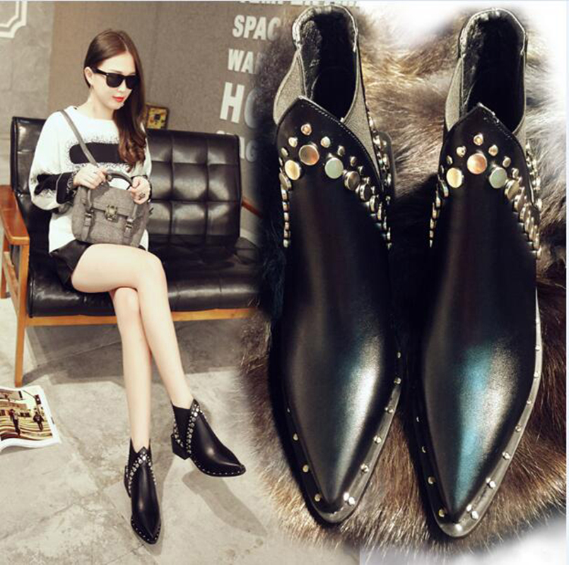 2017 Winter Women ankle Fashion boots Basic Flat Heel Round Toe Zip Flat Female Snow Boots Women Confortable shoes new Arrival snow fur slip on fashion round toe winter boots women ankle flat shoes celebrity gray bow booties chinese female short new
