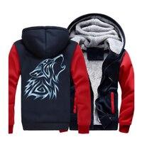 2019 New Style Animal Wolf Printed Men Hoodies Sweatshirts Fleece Casual Hooded Harajuku Men's Jackets Winter Men's Coat CM01