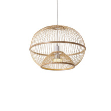 China Bamboo Led Wicker Rattan Ball Cage Pendant Light Fixture Vintage Dress  Rustic Hang Lamp Fitting Foyer Living Dining Room 30 40 50cm wicker rattan ball globe sphere pendant light fixture modern rustic country hanging lamp avize luminaria dining room
