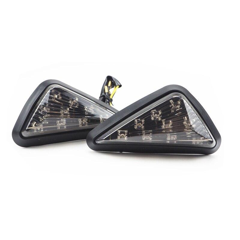 Universal 9Pcs LED Motorcycle Turn Signal Light Lamp Amber Triangle Piranha Light Motorcycle Flasher Blinker Turn Light