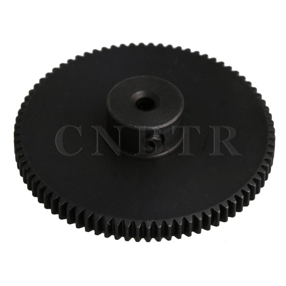CNBTR 40.8x10x3MM Black 80 Teeth Motor Metal 45# Steel Gear Wheel 0.5 Modulus Top Screws 3mm Hole Diameter diy 3mm 45 steel gear wheel motor 2 pcs