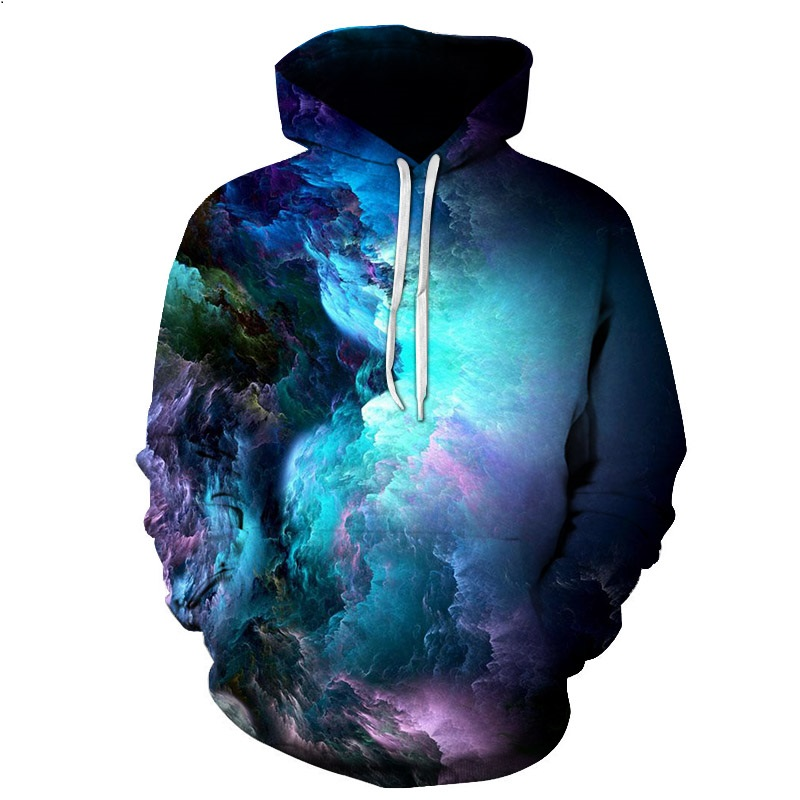 2018 Dream clouds Hooded Women/Men Printed Coat 3D Sweatshirt Outerwear Sportswear Hoodies 2018