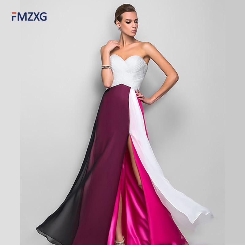 Formal Night Dresses 2018 Elegant Purple Deep Off Shoulder Ruched ...