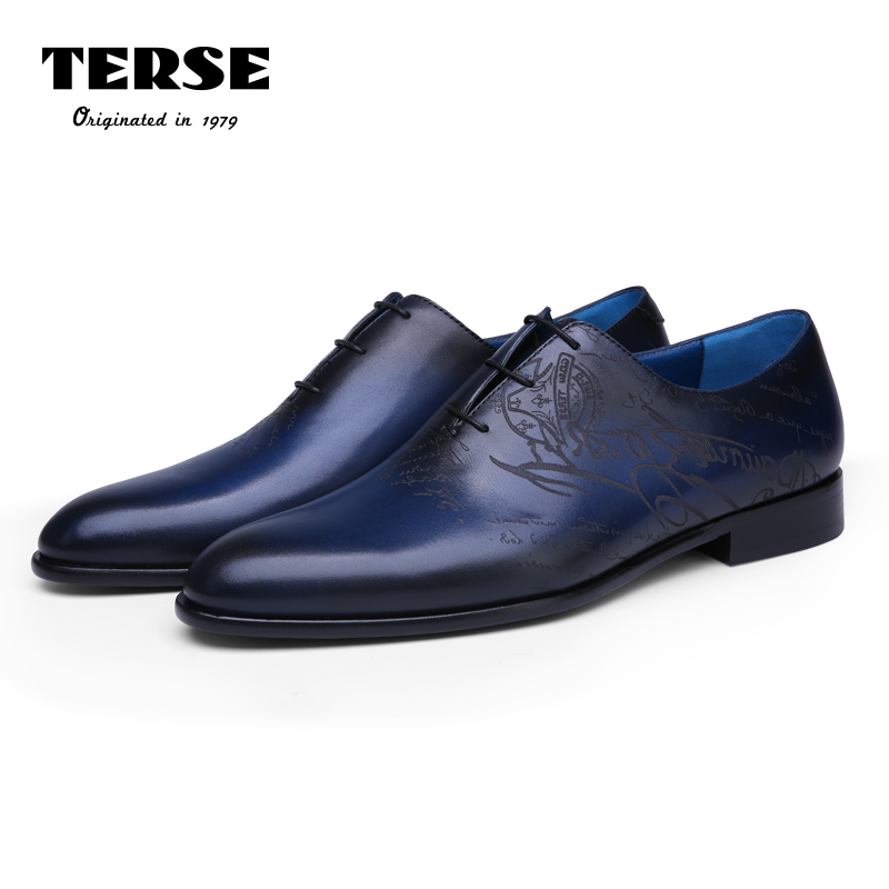 TERSE_Hot sale leather oxfords mens shoes handmade top genuine leather dress shoes 2 colors vintage goodyear luxury custom shoes 2016 luxury mens goodyear welted oxfords shoes vintage boss brogue shoes italian mens dress shoes elegant mens gents shoes derby