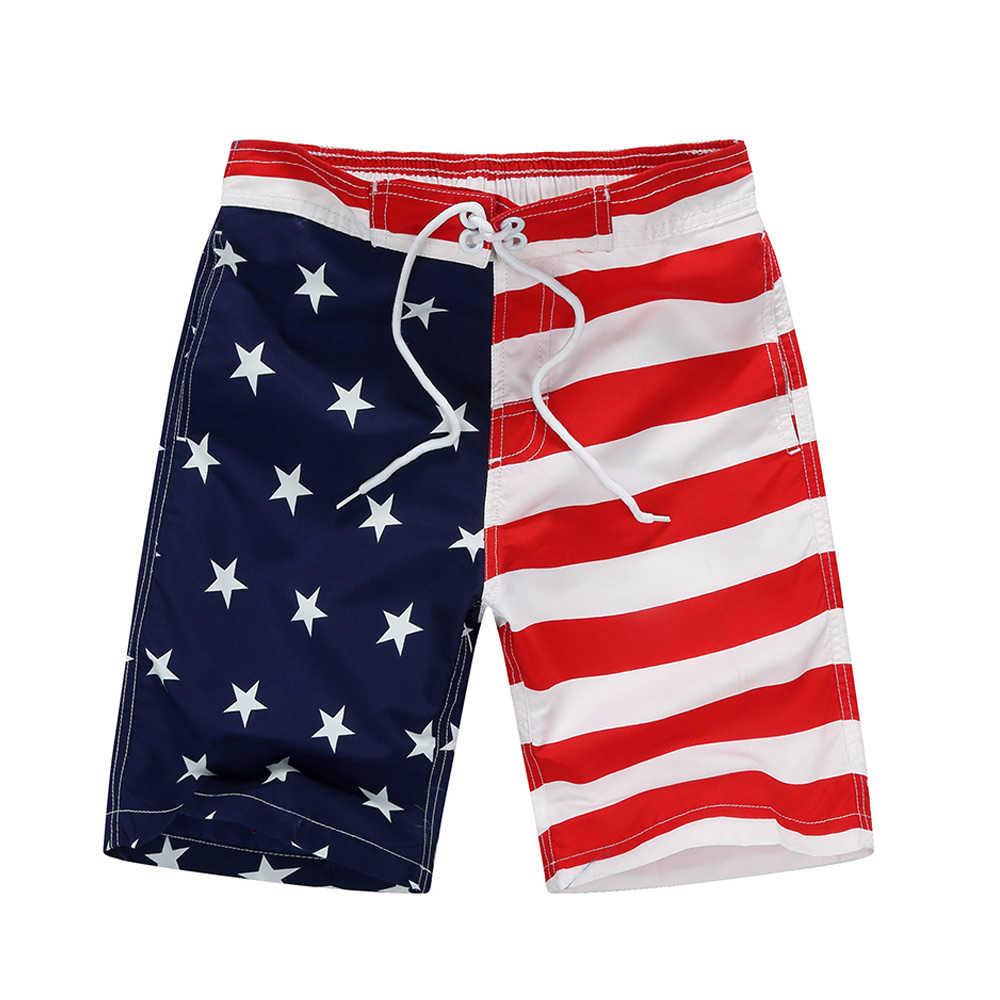 2019 New Beach Shorts For Kids Surf Board Short Custom Child Swim Trunks Boy's Sport Wear American Flag 7-14 Years Board Shorts