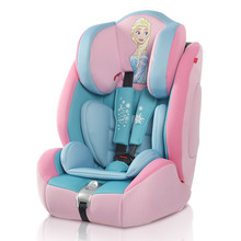 Fashion Children Safety Car Seat, Lovely Disnei Baby Car Seat, Auto Chair for 9 Months ~ 12 Years Old Kids