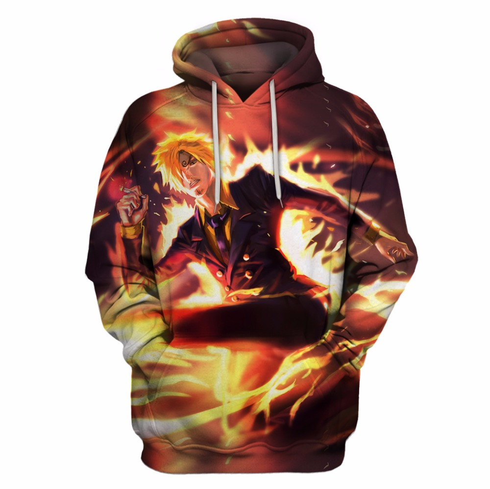 Droshipping 3D Hooded Sweatshirt One Piece Luffy Hoodies