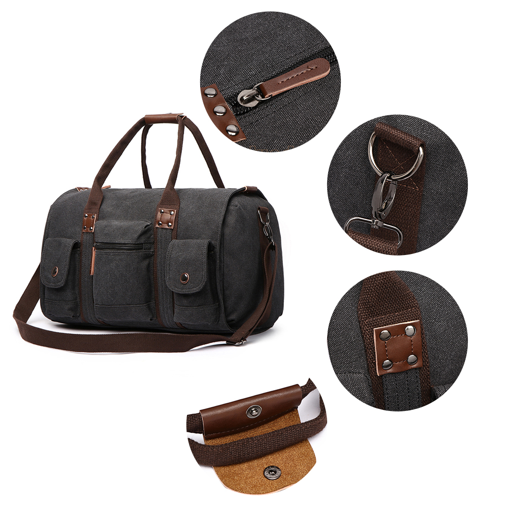 Image 3 - Travel Bag Large Capacity Men Hand Luggage Travel Duffle Bags Canvas Weekend Bags Business Trip Multifunctional Travel Bags-in Travel Bags from Luggage & Bags