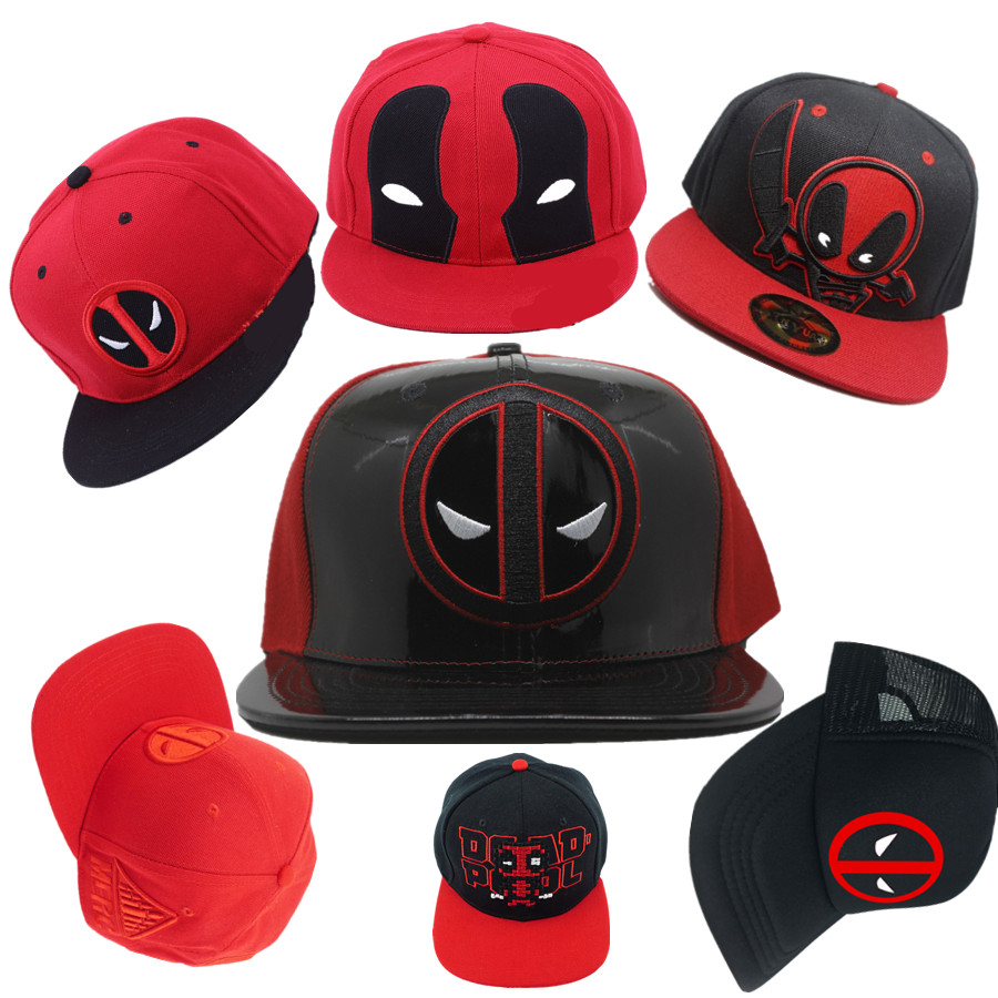 Adult s marvel Deadpool 3D Baseball Trucker hat cotton PU Cap Adjustable Hip  Hop Hat embroidery cap Cosplay christmas gift-in Boys Costume Accessories  from ... 8cf30c89ecf