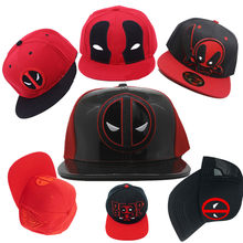 Adult s marvel Deadpool 3D Baseball Trucker hat cotton PU Cap Adjustable  Hip Hop Hat embroidery 82c77668c2c