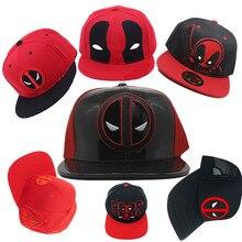 Adulto marvel Deadpool 3D de béisbol camionero sombrero de algodón PU gorra  ajustable Hip Hop sombrero bordado gorra Cosplay Nav. 4155eaa7695