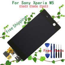 100% Original NEW LCD For Sony Xperia M5 Display with LCD Touch Screen Digitizer Assembly E5606 E5653 LCD Replacement