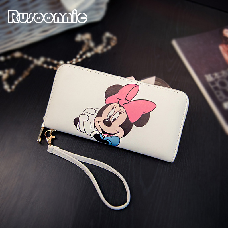 Minnie Women Wallets Mickey Bag Purse Leather Handbag Ladies Wallet Clutch Bag Bolsa Feminina Bolsas Female Billeteras