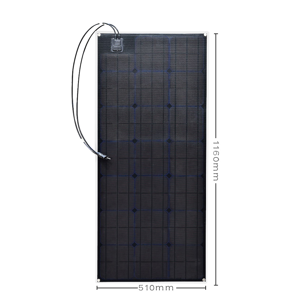 20.5V outdoor ETFE Flexible Solar Panel 100W Monocrystalline Solar Cell for Car/Yacht/Steamship 12V 100 Watt Solar Battery20.5V outdoor ETFE Flexible Solar Panel 100W Monocrystalline Solar Cell for Car/Yacht/Steamship 12V 100 Watt Solar Battery