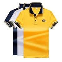 Camiseta Polo de manga corta informal de gran tamaño para hombre