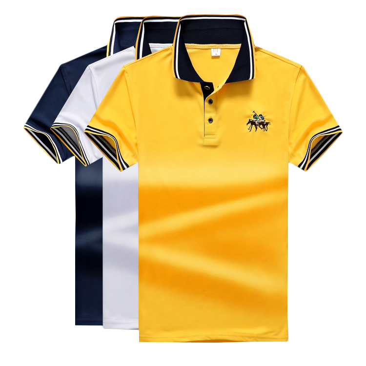 Men's oversized casual short-sleeved   Polo   shirt student uniforms men's   polo   shirt