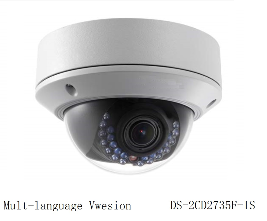 Multi language Version DS 2CD2735F IS 3MP CCTV Dome IP Camera 2 7mm 12mm Zoom H