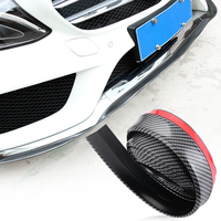 2 5M Carbon Fiber Car Styling Strips Sticker Body Kit Wrap Protector Protcetion Front Bumper Scratches
