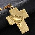 Новый Золотой/Серебряный крест-Распятие SONYA и подвеска в виде буддийской ладони и ожерелье, Мужская цепочка, христианские ювелирные изделия...