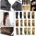 """70g de cabelo humano remy extensões de cabelo humano clipes horstail rabo de cavalo rabo de cavalo em/sobre extensões 16 """"18"""" 20"""""""