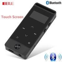 2017 Yeni Sürüm Bluetooth mp3 çalar Dokunmatik Ekran BENJIE S5B 8 GB Dijital Ses Kaydedici Kayıpsız HiFi Ses MP3 Müzik oyuncu