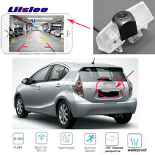 LiisLee wireless Rear View Camera For Toyota Prius C for toyota Aqua car Reverse license plate camera backup