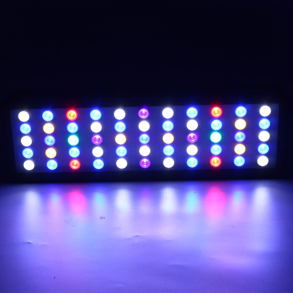 Lengthen WIFI 165w Marine Led Aquarium Light Timer Dimmable Full Spectrum Led Lighting Acuarios For Coral Reef Led Fish Tank