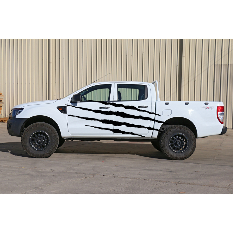 2PC Claw Scratches body side graphic vinyl decals for ford ranger2012 -2015 truck decals badges detailing sticker window deflector for ford ranger injection black car wind deflector visor vent shade rain sun guard for ford ranger t6 2012 2014