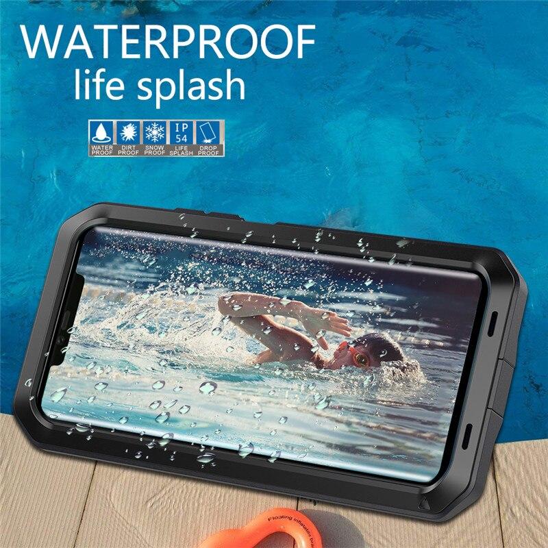 Металлический + силиконовый сверхпрочный защитный чехол для телефона Huawei P30 Mate 20 Pro, алюминиевая жизнь, водонепроницаемый ударопрочный чехо...