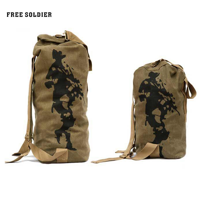 e3da89da4cf4 FREE SOLDIER 42L Tactical Climbing Backpack Barrel Bag Men Military Backpack  Canvas Mountain Hiking Backpack Camping Rucksack-in Climbing Bags from  Sports ...