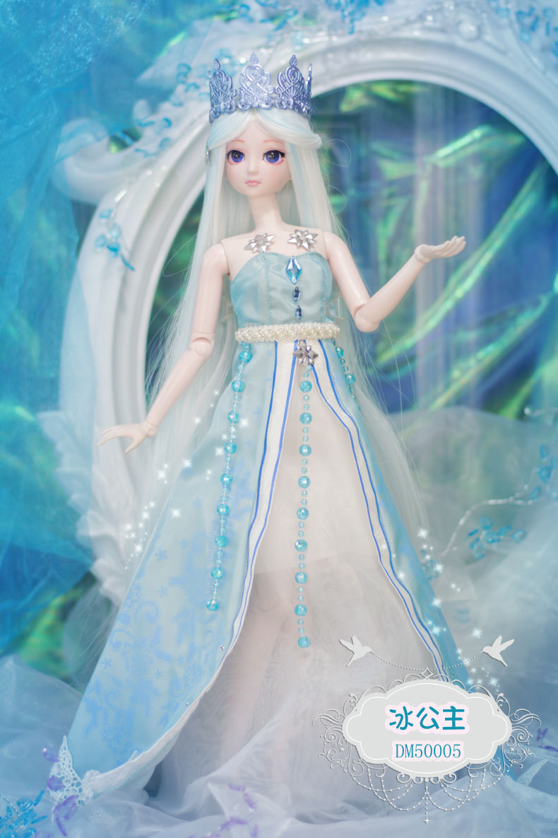 new 1/4 BJD Doll 50cm(19'') 18 jointed dolls Cute girl Toy ice princess ( make up + Hair  + Clothes + Shoes ) gift for children 1 4 bjd dollfie girl doll parts single head include make up shang nai in stock