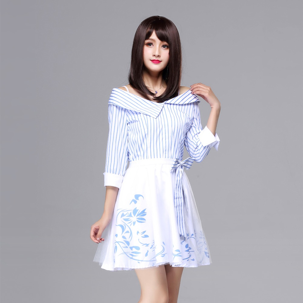 Love and producer Cosplay Costume girl women dress for Christmas Halloween gift