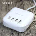 AIXXCO Portable 3.2A 4 Port USB Travel Charger EU Plug Adapter for Charger for Samsung Xiaomi For iPhone 6 6s Plus 5s