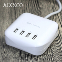 Portable 3 2A 4 Port USB Travel Charger EU Plug Adapter For Charger For Samsung Xiaomi