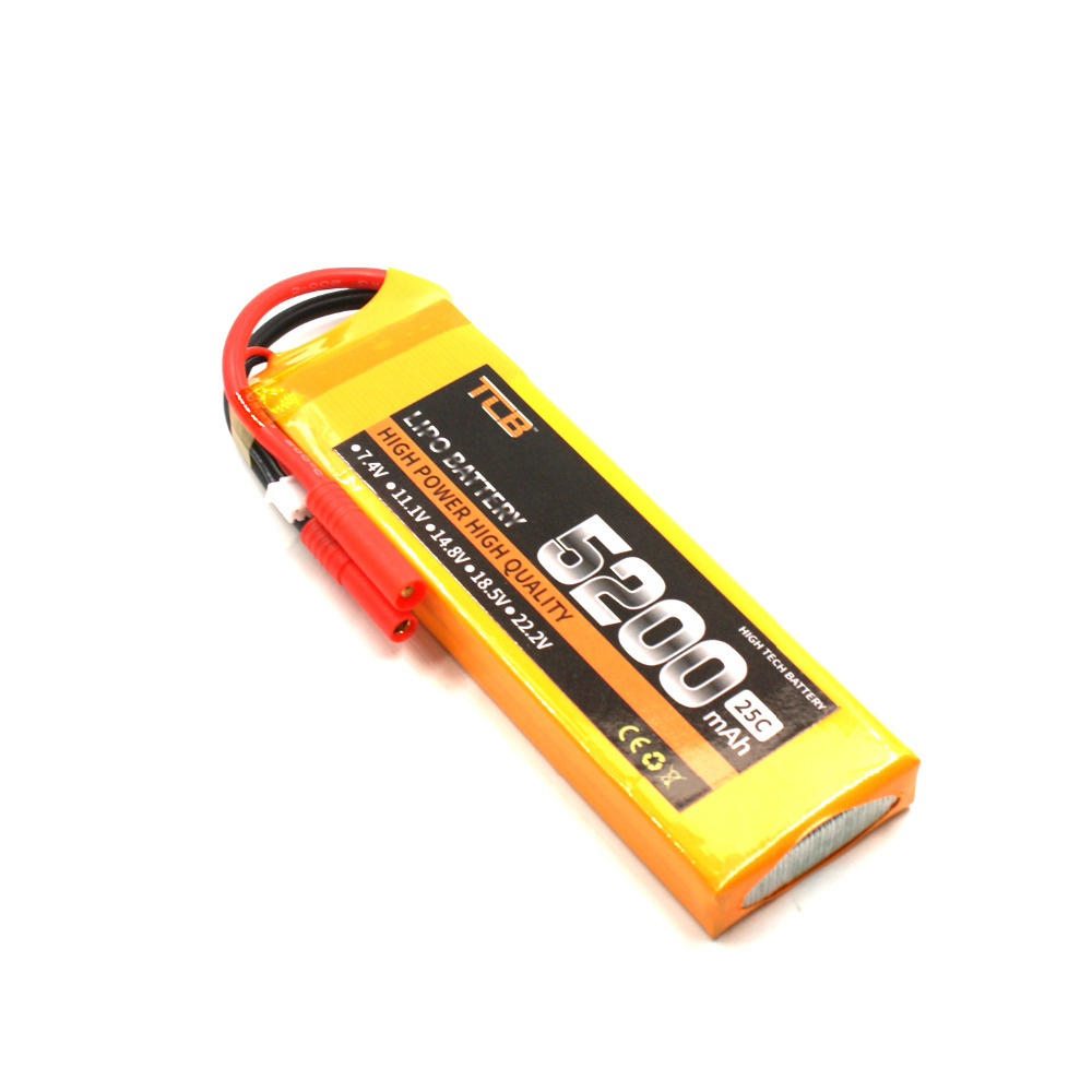 TCB RC Drone lipo battery 7.4v 5200mAh 25C 2s FOR rc airplane helicopter car boat 2s Batteria power T/XT60 1s 2s 3s 4s 5s 6s 7s 8s lipo battery balance connector for rc model battery esc