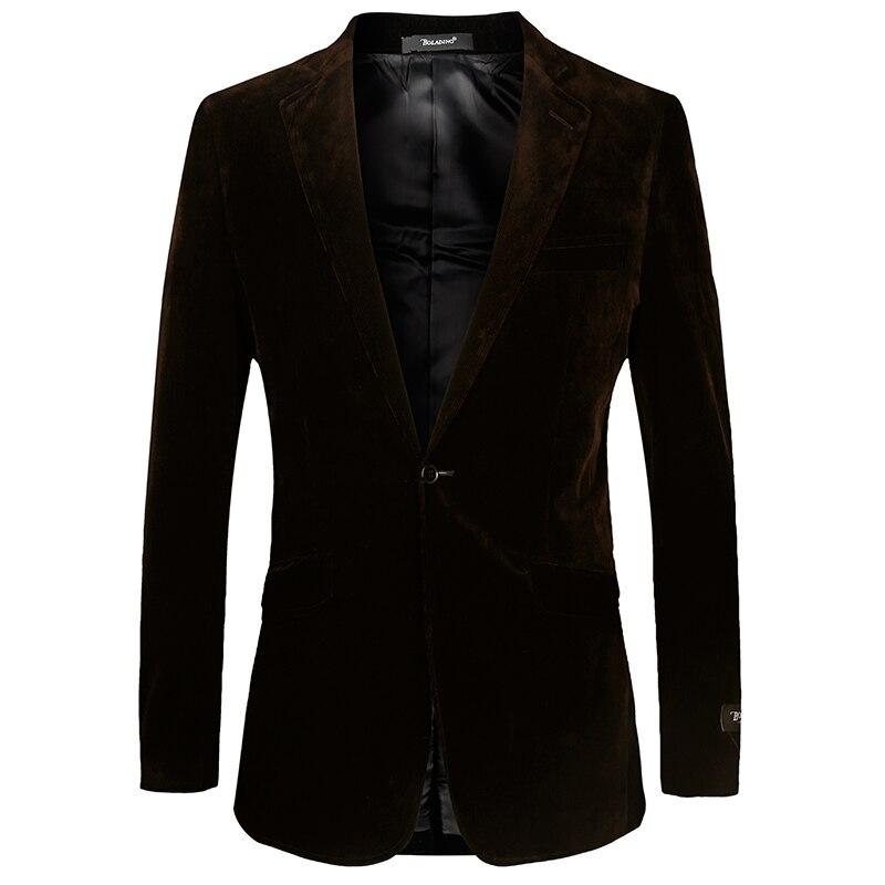 2017 nouveauté formelle velours côtelé veste hommes brève solide poche hommes costume blazer extérieur Euro grande taille 56 marque vêtements T-146