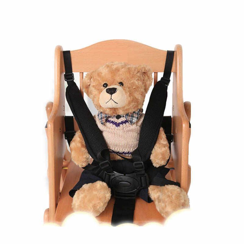 Universal Baby ห้าจุดปลอดภัยเข็มขัดความปลอดภัยสำหรับรถเข็นเด็กเก้าอี้สูงรถเข็นเด็ก Buggy เด็กปรับ 360 หมุนตะขอ