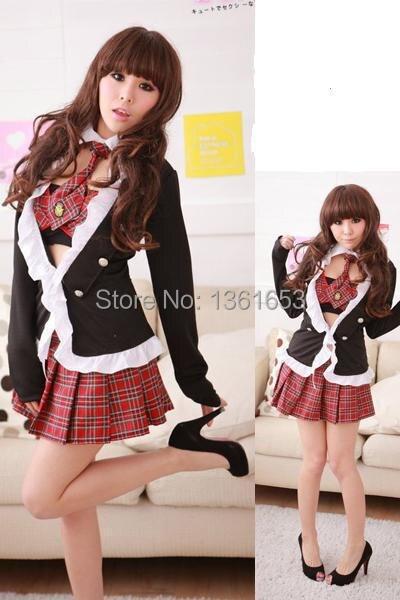 School girl uniform font b cosplay b font halloween costumes for font b women b font