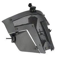 Aço fio tático máscara facial completa malha de ferro samurai máscara capacete esgrima caça esporte ao ar livre proteção