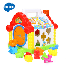 Early Educational Baby Toys, Colorful Musical Baby House with Shape Sorters, Musical Piano Keys, Blocks Activity Cube, Multi Game Play Cube for Boys and Girls