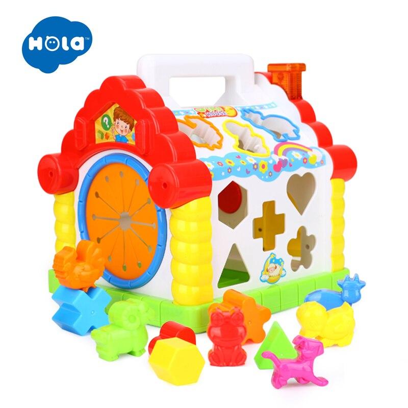 HOLA 739 jouets musicaux multifonctionnels bébé amusement maison Musical électronique blocs géométriques tri apprentissage jouets éducatifs cadeaux - 5