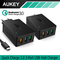 AUKEY USB Carga Cargador Rápido de 3.0 Puertos USB Cargador de Pared para lg g5 samsung galaxy s7/s6/edge nexus 6 p/5x iphone 7 plus ipad