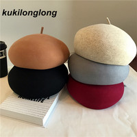 Kukilonglong New Arrival Wool Berets For Women Thick Warm Caps For Ladies 2017 Fashion Good Grade