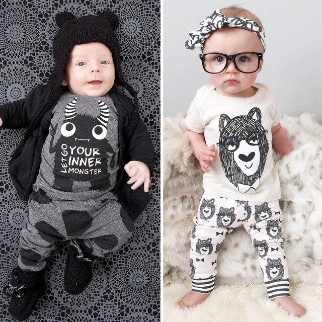 Leuke Kinderkleding Merken.2019 Merk Kinderkleding Korte Mouw T Shirt Broek Baby Boy Pyjama Set