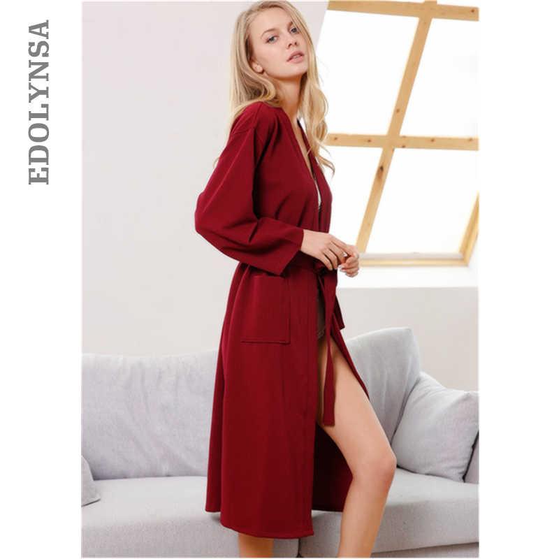 27f847932c Detail Feedback Questions about Red Cotton Japanese Sleepwear Robe Women  Bathrobe Peignoir Femme Woman Night Gown Sleep Wear House Coat Kimono Robe  Warm ...