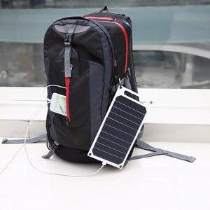 Image 2 - LEORY 5V 10W DIYพลังงานแสงอาทิตย์แบบพกพาCamping Slim Light USBชาร์จPower Bank Pad Universalสำหรับโทรศัพท์แสงรถ