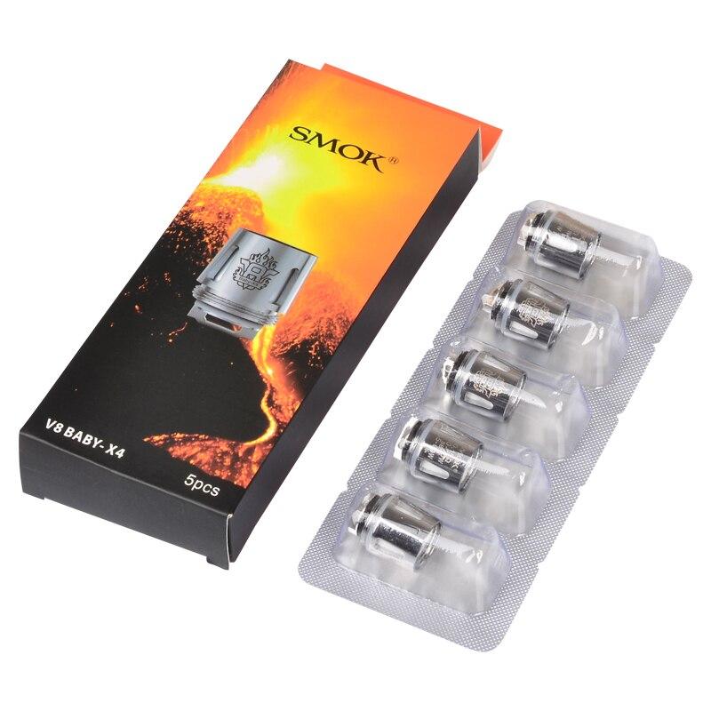 Original Smok TFV8 Baby Coil Head V8 Baby-T8 V8 Baby-T6 V8 Baby-X4 V8 Baby-Q2 Core For TFV8 BABY Beast Tank & Alien& Al85 Kit