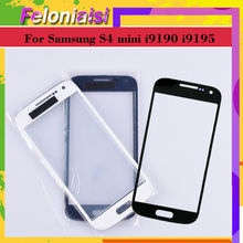 10Pcs/lot For Samsung Galaxy S4 Mini i9190 i9195 i9192 GT-i9192 Touch Screen Front Glass Panel TouchScreen Outer Glass Lens цена и фото