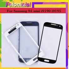 купить 10Pcs/lot For Samsung Galaxy S4 Mini i9190 i9195 i9192 GT-i9192 Touch Screen Front Glass Panel TouchScreen Outer Glass Lens по цене 588.13 рублей