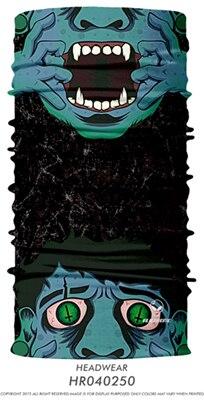 3D Череп Скелет бесшовная Бандана Балаклава головная повязка мотоциклетный головной убор Байкер волшебный платок труба Шея рыболовная вуаль маска для лица - Цвет: TA19